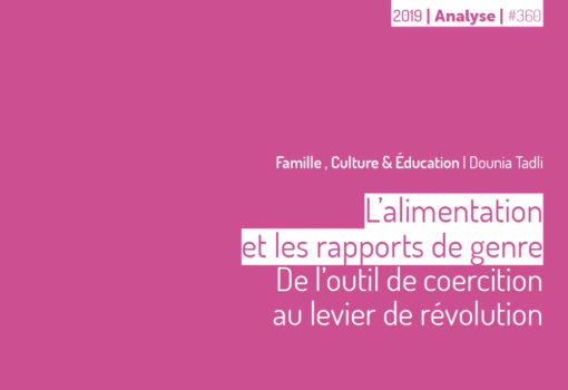 cover publication l'alimentation et les rapports de genre