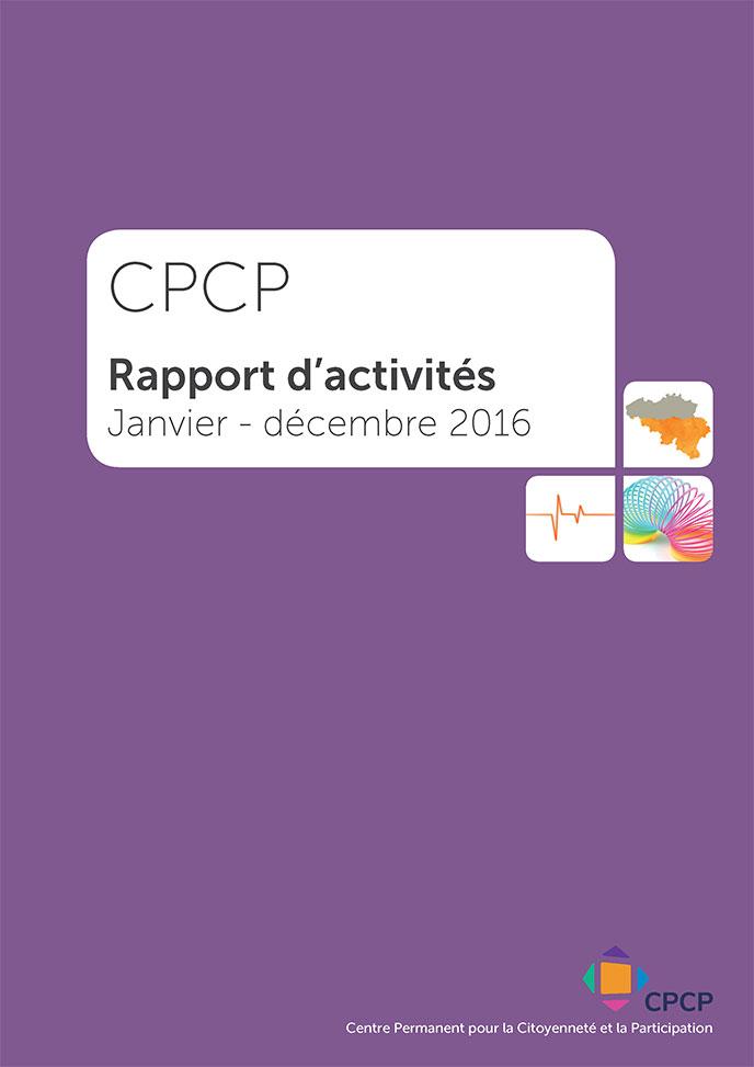 cover rapport activités CPCP 2016