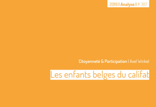Cover publication les enfants belges du califat