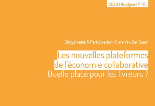 cover publication Les noubelles plateformes de l'economie collaborative