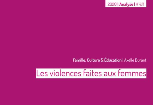 cover publication Les violences faites aux femmes