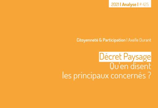 Cover publication Le décret Paysage