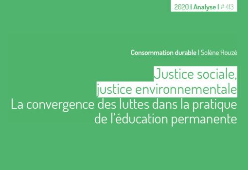 cover publication Justice sociale, justice environnementale